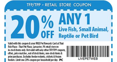 Visit That Fish Place - That Pet Place - 237 Centerville