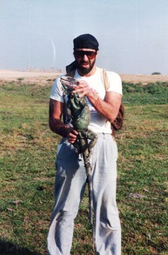 Frank with Green Iguana